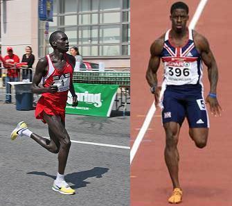 La diferencia entre el Fisico de un  atleta Maratonista y un Velocista